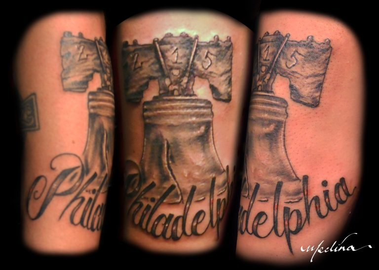 Liberty Bell Tattoo by Michael Medina