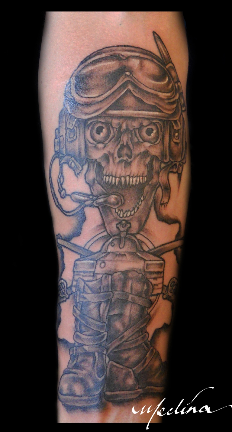 Army Tanker Tattoo by Michael Medina