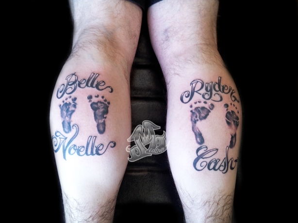 Footprints Tattoo by Michael Medina