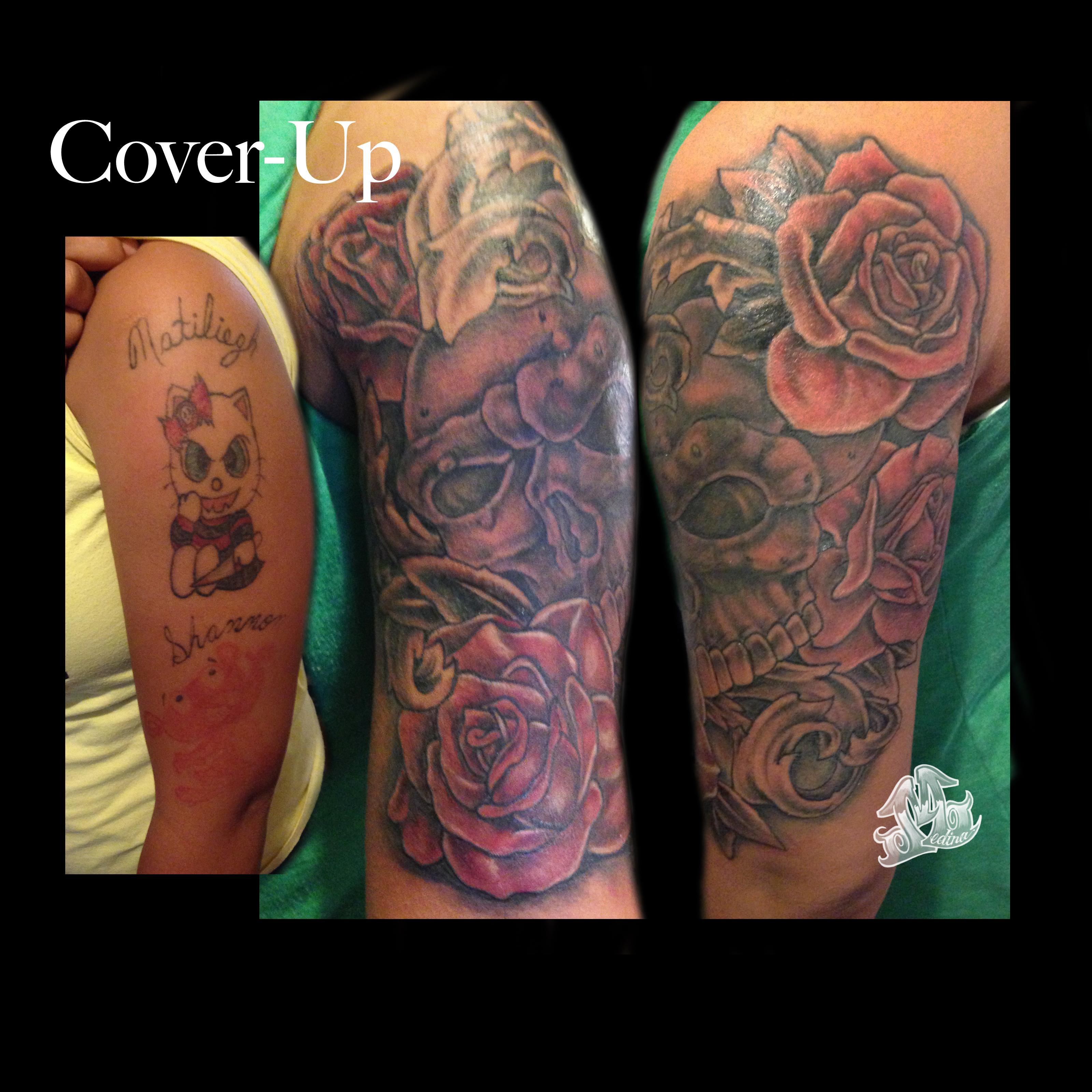Half sleeve cover up tattoo michael medina art for Tattoo sleeve cover ups