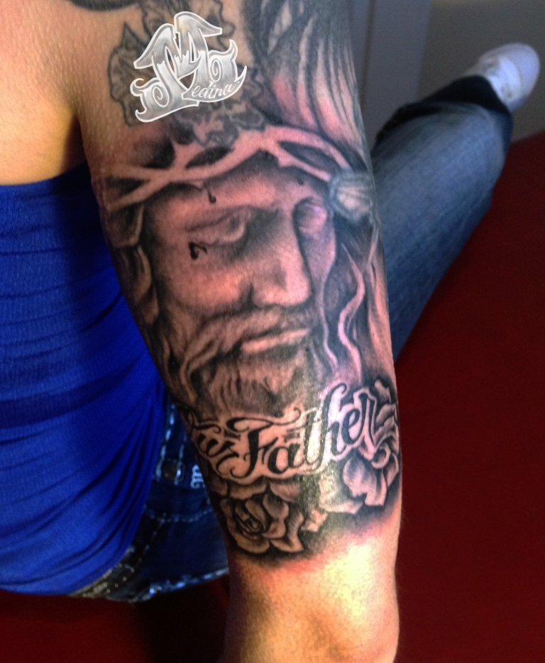 Jesus Tattoo by Michael Medina