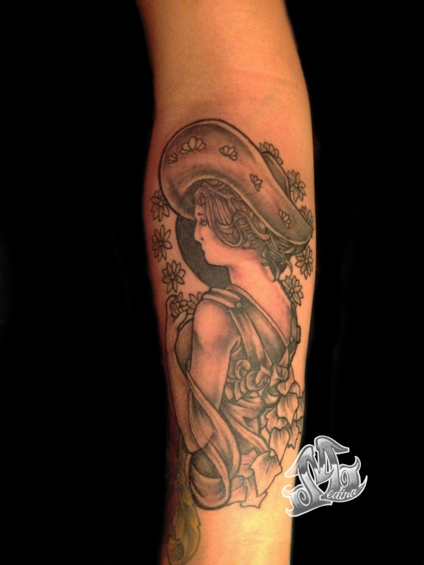 Art Nouveau Tattoo by Michael Medina