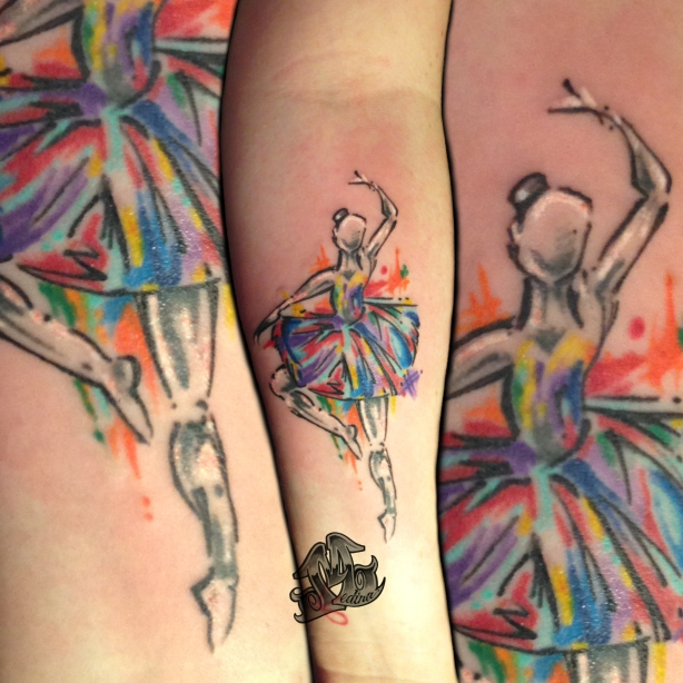 Dancer Tattoo by Michael Medina