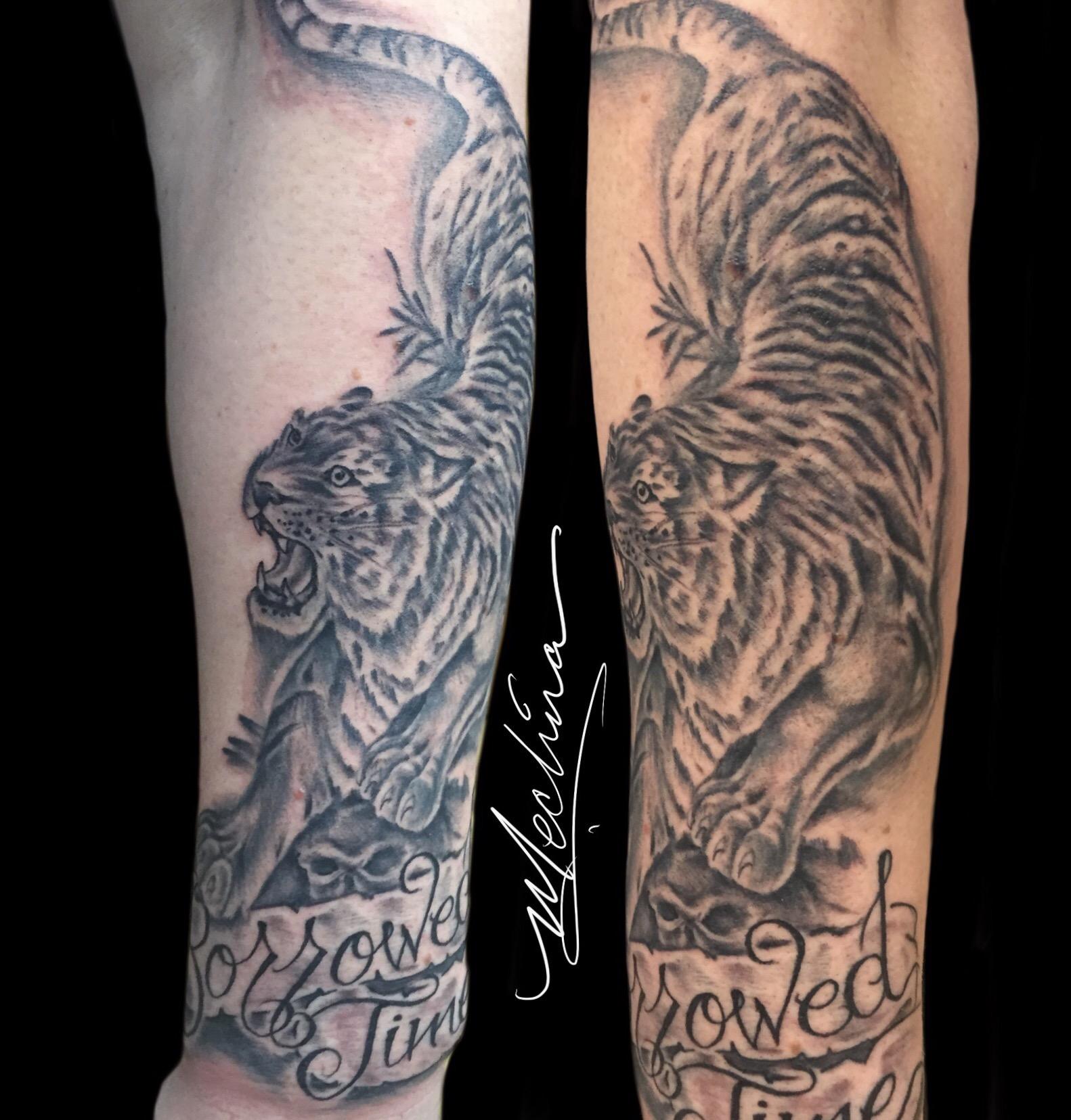b28fc161c7c57 Classic Tiger Tattoo – Michael Medina Art